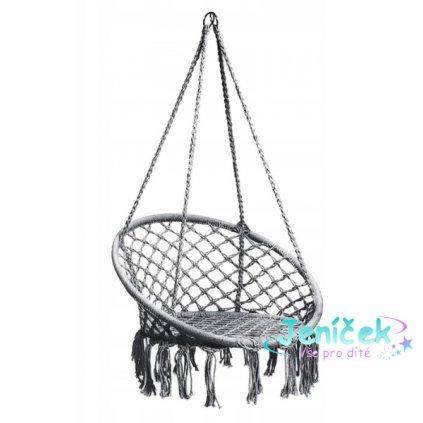 Eco toys Závěsné houpací křeslo Hamak - šedé