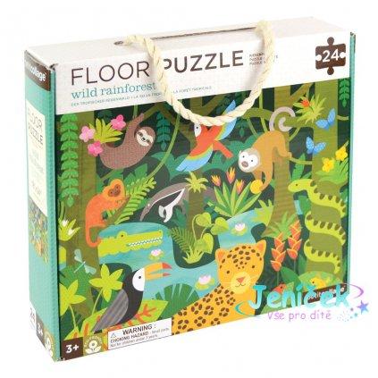 Petit Collage Podlahové puzzle deštný prales