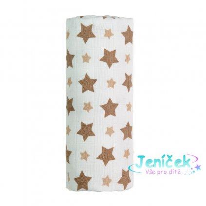 BIO Bambusová osuška, beige stars / béžové hvězdičky V