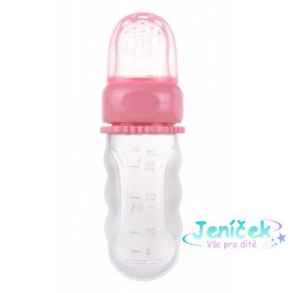 Canpol babies Silikonová krmící síťka s nádobou -růžová