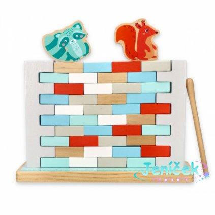 Adam Toys Dřevěná balanční hra - Zeď