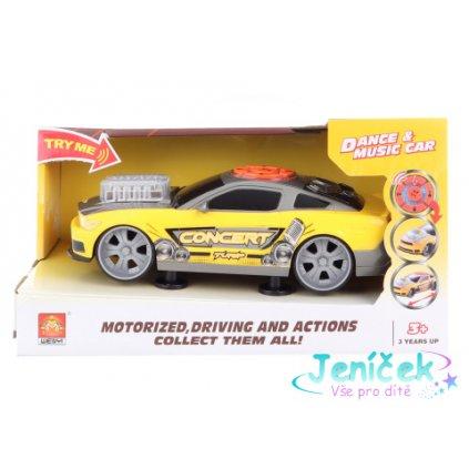 Auto žluté hudební na baterie