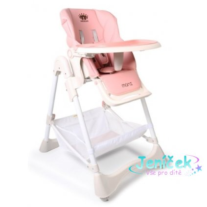 Cangaroo Dětská jídelní židlička Chocolate - růžová
