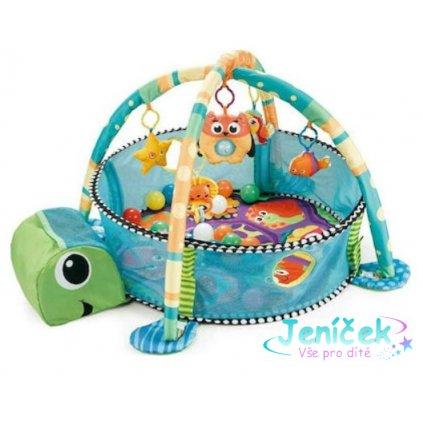 Cangaroo Dětská hrací podložka Mořská želva, modrá