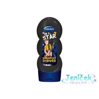 BÜBCHEN Kids šampon a sprchový gel 2v1 Be a Star, 230 ml