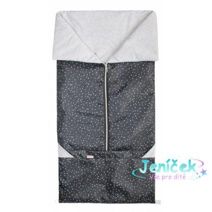 Emitex Fusak 2v1 - PIKNIK Pes. šedý trojuhelníky + Ba. šedá melanž