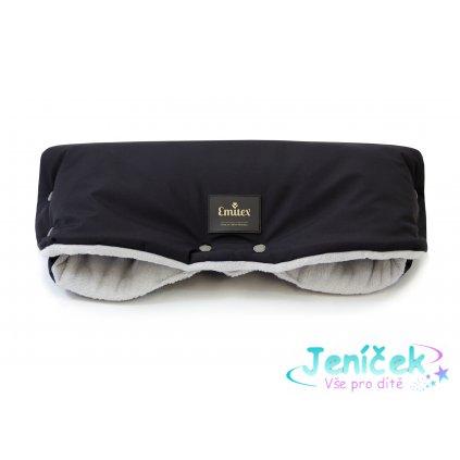 Emitex Rukávník kočár PREMIUM - černý + šedý