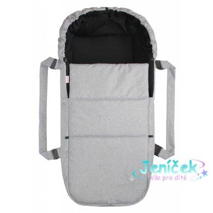 Emitex Taška pro kojence OXFORD - světle šedá - černá uvnitř