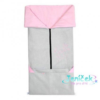 Emitex Fusak 2v1 FANDA sv. šedý / růžový
