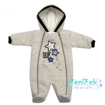 Zimní kojenecká kombinéza s kapucí Koala Star Vibes modrá
