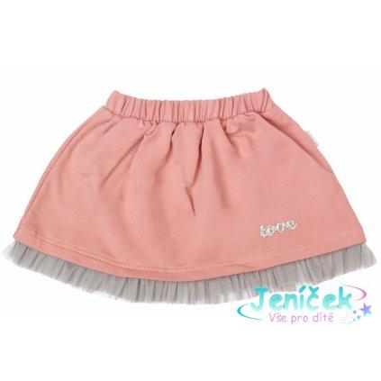 Mamatti Dětská bavlněná sukně, New minnie - pudrová