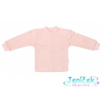 Mamatti Novorozenecká bavlněná košilka, kabátek, Magnólie - pudrová