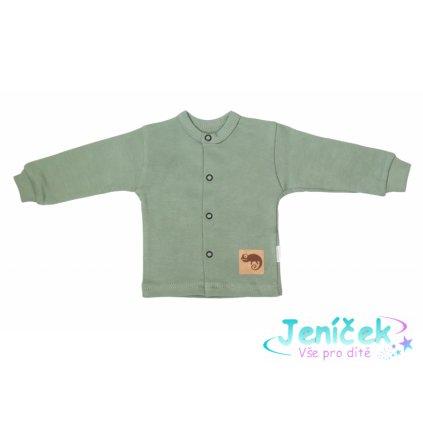 Mamatti Novorozenecká bavlněná košilka, kabátek, Auta - olivová