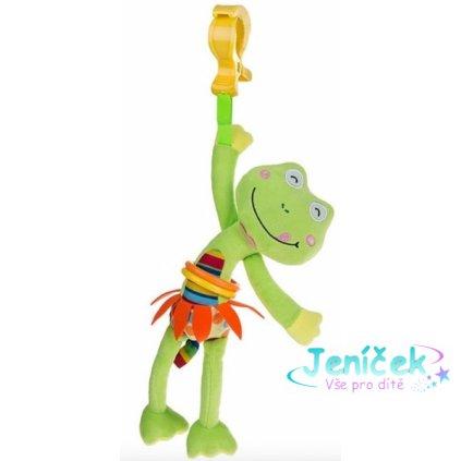 Akuku Plyšová hračka s vibrací a klipem - Žabka