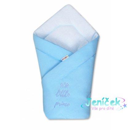 Baby Nellys Rychlozavinovačka Little Prince 78x78 - jersey - modrá