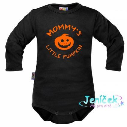 Body dlouhý rukáv Dejna Mommy´s Little Pumpkin - černé