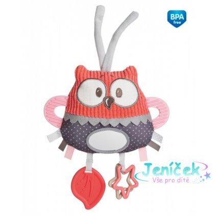 Plyšová edukační hračka na zavazování Canpol Babies - Sova korálová