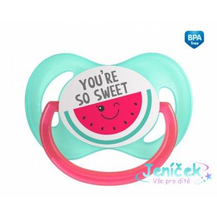 Canpol babies Dudlík symetrický So Cool 0-6 m A - růžový