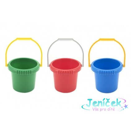 Kbelík plast průměr 16cm výška 14cm asst 4 barvy 12m+