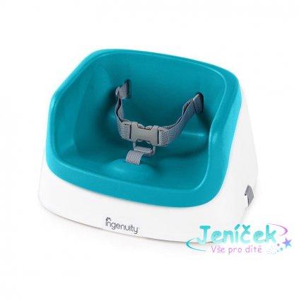 INGENUITY Podsedák na jídelní židli SmartClean Toddler - Peacock Blue 2r+, do 15 kg