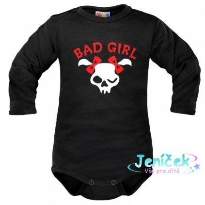 Body dlouhý rukáv Dejna Bad Girl - černé