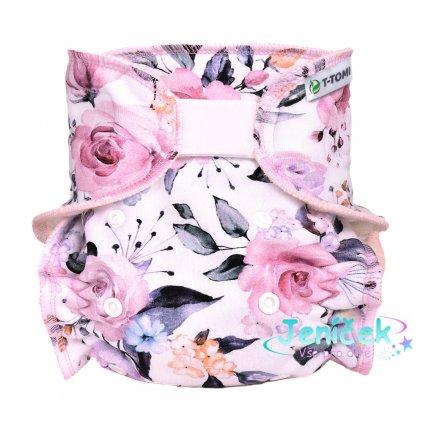 Kalhotková plena - přebalovací set suchý zip, roses