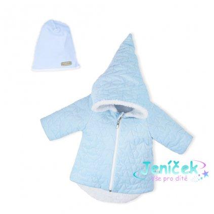 Zimní kojenecký kabátek s čepičkou Nicol Kids Winter modrý, vel. 74 V