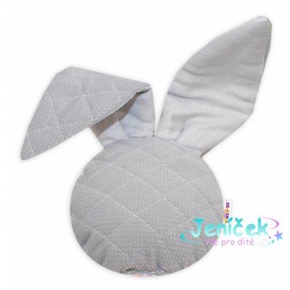 Baby Nellys Chrastítko/přítulníček, Mini zajíček - Velvet, šedý