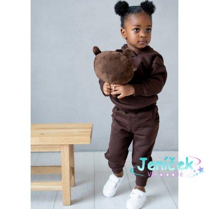 dziecieca bluza z kapturem dark brown ilm