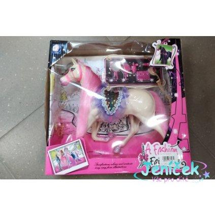 Kůň růžový s doplňky