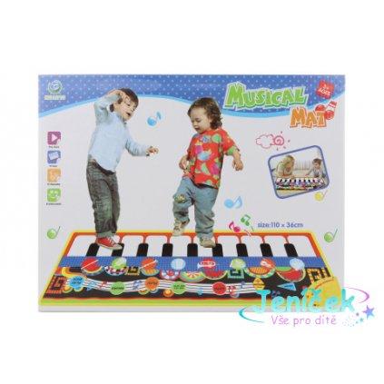 Hudební koberec s hudebními nástroji