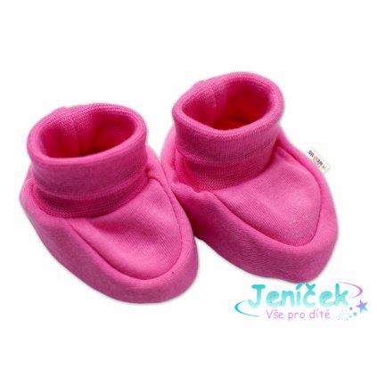 Baby Nellys Kojenecké botičky, ponožtičky Sweet Little Princess, růžové