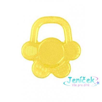 BABYONO Kousátko chladící květ - žlutá
