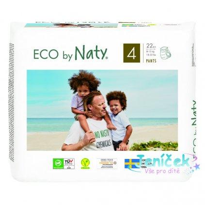 ECO BY NATY 4 Pants, 22 ks (8-15 kg) - kalhotkové pleny