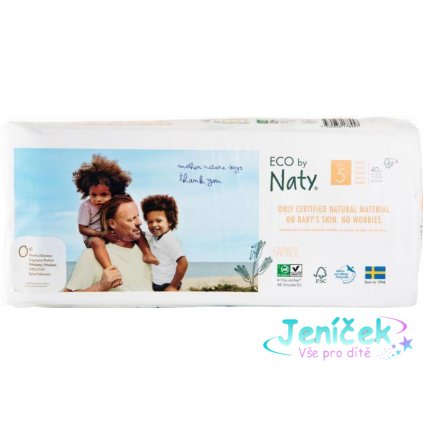 ECO BY NATY 5 Junior, 40 ks (11-25 kg) ECONOMY PACK - jednorázové pleny