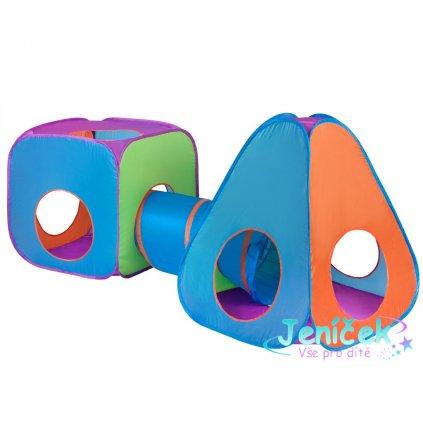 Dětský stan Baby Mix 3v1 oranžovo-modrý