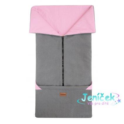 Emitex Fusak 2v1 FANDA šedá + starorůžová