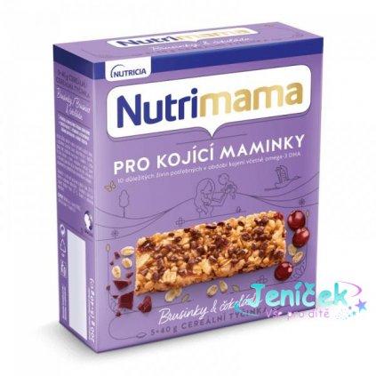 NUTRILON NUTRIMAMA Profutura cereální tyčinky Brusinky a Čokoláda (5x40g) V