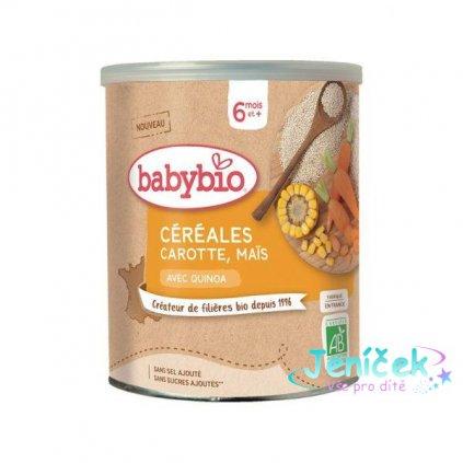 BABYBIO Zeleninová nemléčná kaše s mrkví a kukuřicí (220 g) V