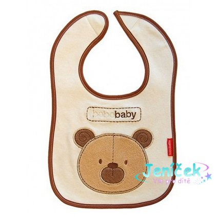 BOBO BABY Dvouvrstvý, nepromokavý bryndáček Medvídek - hnědý V
