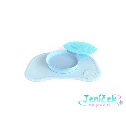 TWISTSHAKE Protiskluzová podložka Click Mat + talíř (6m+) pastelově modrá V