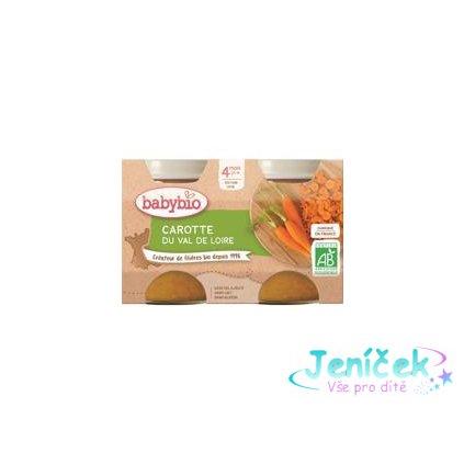 BABYBIO Příkrm mrkev (2x 130 g) V