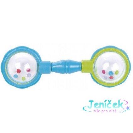 CANPOL BABIES Chrastítko míčky na čince – modré