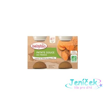 BABYBIO Příkrm sladké brambory (2x 130 g)
