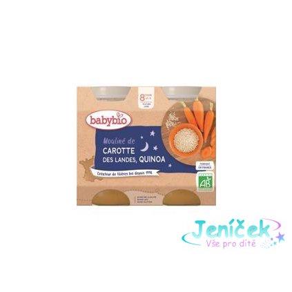 BABYBIO Večerní menu mrkvové mouliné a quinoa (2x 200 g)