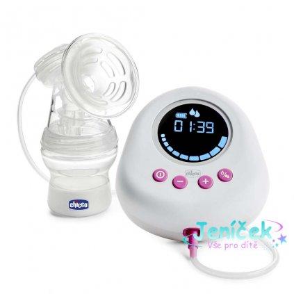 CHICCO Odsávačka mateřského mléka elektronická Single pink