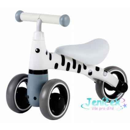 Odrážedlo/tříkolka Eco Toys, Zebra - bílá