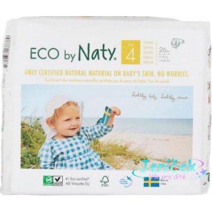 ECO BY NATY 4 Maxi, 26 ks (7-18 kg) - jednorázové pleny