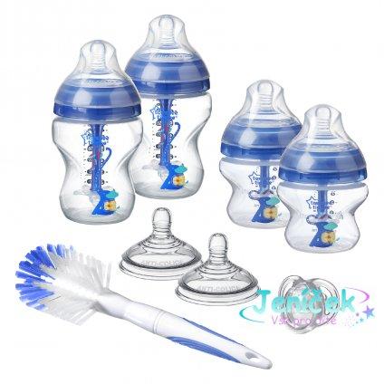 Sada kojeneckých lahviček C2N ANTI-COLIC s kartáčem Blue VYP