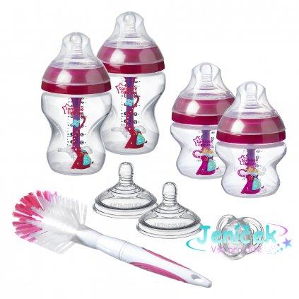 Sada kojeneckých lahviček C2N ANTI-COLIC s kartáčem Pink¨VYP